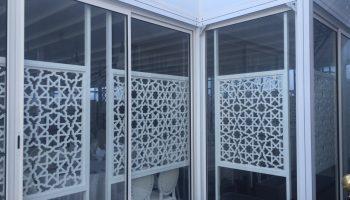 Porte japonaise en verre